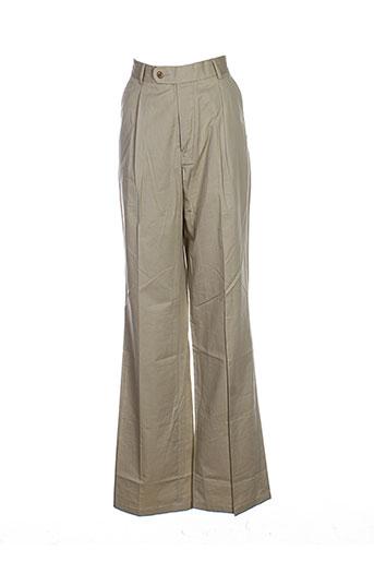 eden park pantalons homme de couleur beige