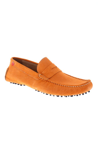 baxton mocassins homme de couleur orange