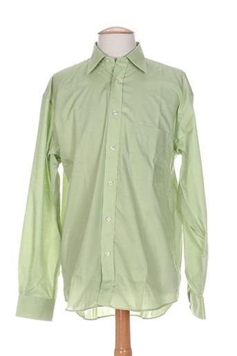 cambridge chemises homme de couleur vert