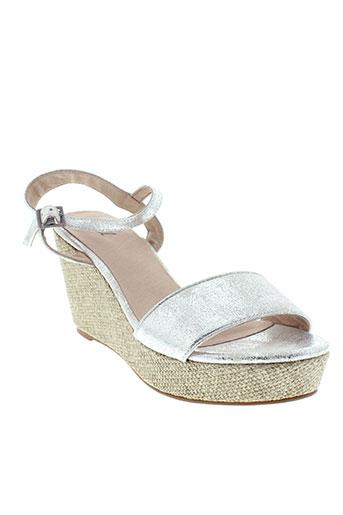 axell sandales et nu et pieds femme de couleur gris