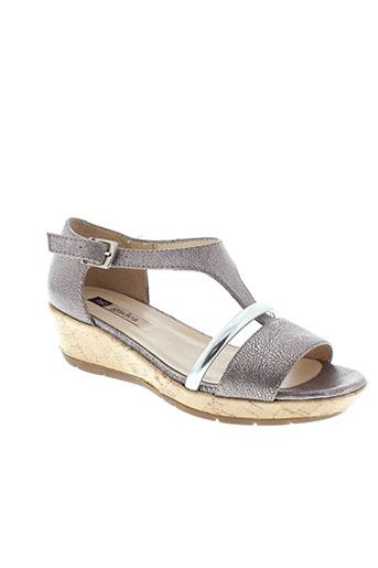gadea sandales et nu et pieds femme de couleur gris
