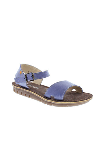 jungla sandales et nu et pieds femme de couleur bleu