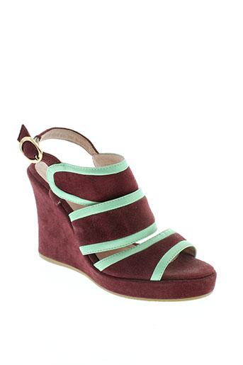 essentiel chaussures femme de couleur rouge