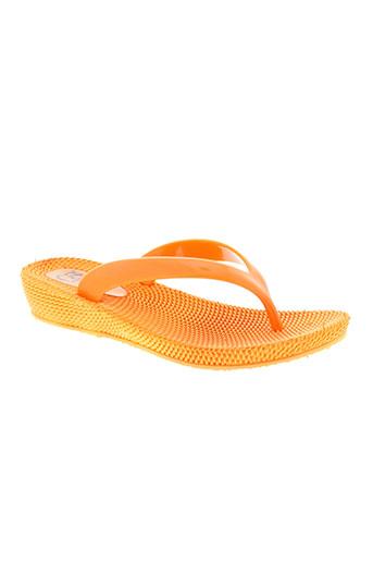 cassis cote d'azur chaussures femme de couleur orange