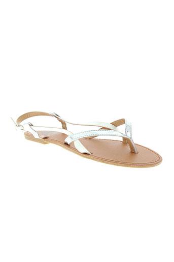 cassis et cote et d et azur sandales et nu et pieds femme de couleur blanc
