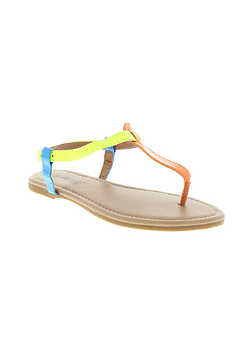 cassis et cote et d et azur sandales et nu et pieds fille de couleur orange