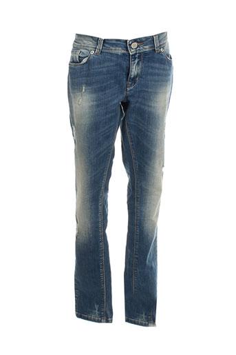 idenim jeans femme de couleur bleu