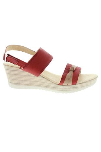 inea sandales et nu et pieds femme de couleur rouge