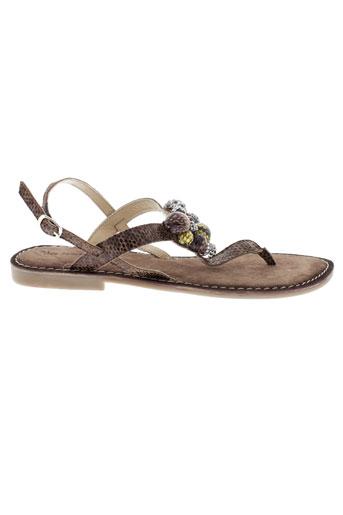 libre et comme et l et air sandales et nu et pieds femme de couleur marron