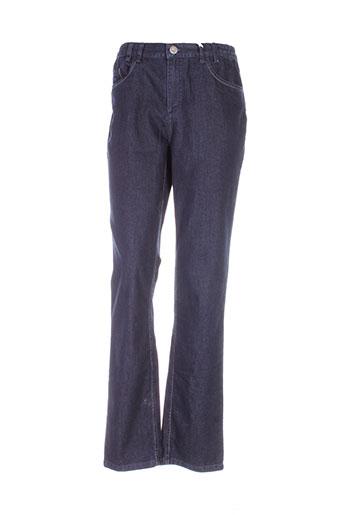 tbs jeans et coupe et droite femme de couleur bleu