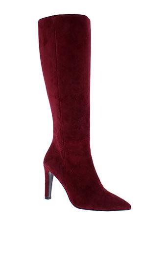 sacha et london bottes femme de couleur rouge