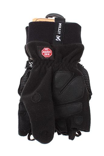 millet echarpes et gants homme de couleur noir