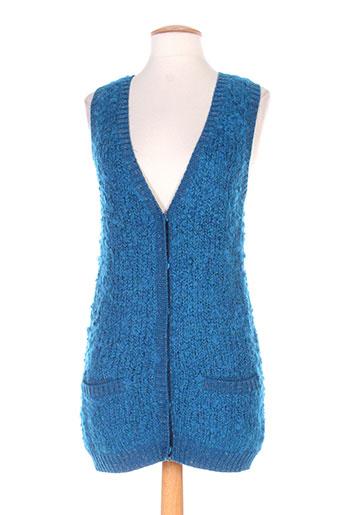 shyde gilets femme de couleur bleu