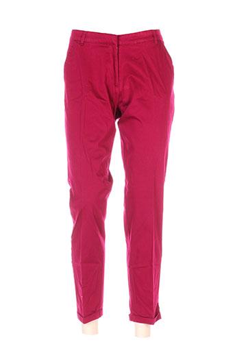 la fiancee du mekong pantalons femme de couleur rouge