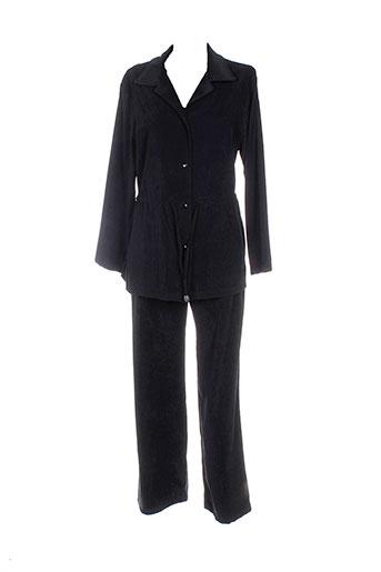 renatto et bene pantalon et veste femme de couleur noir