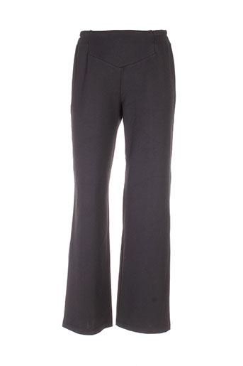 lm la maille pantalons femme de couleur noir