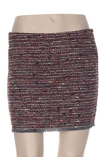 Jupe courte rouge CHRISTOPHE SAUVAT pour femme