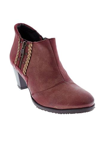 santafe chaussures femme de couleur rouge