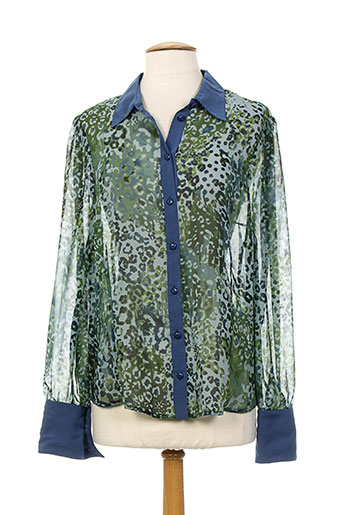 k'tendances chemises femme de couleur vert