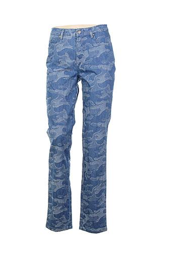k'tendances pantalons femme de couleur bleu