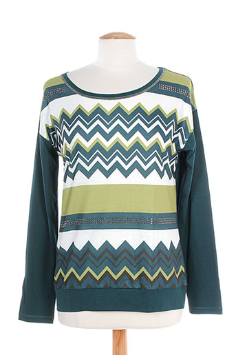 T-shirt manches longues vert KARTING pour femme