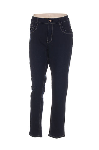 adb et denim jeans et coupe et slim femme de couleur bleu