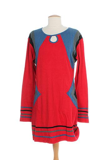 bamboo et s robes et mi et longues femme de couleur rouge