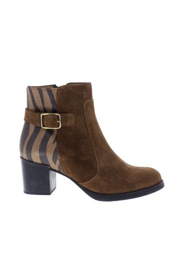 la et fee et maraboutee boots femme de couleur marron