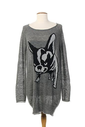 only pull et tuniques femme de couleur gris
