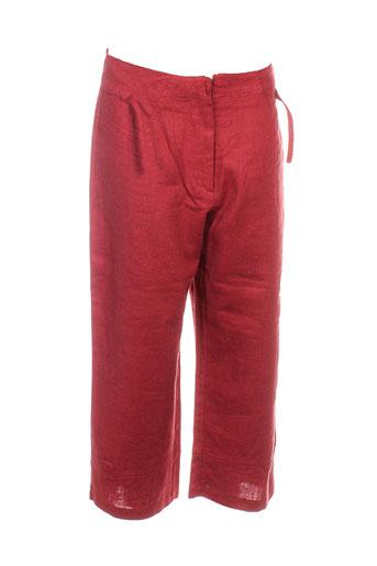 terramoda pantacourts femme de couleur rouge