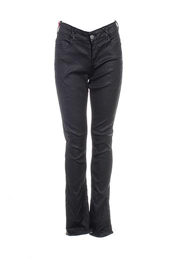 kanope pantalons femme de couleur noir