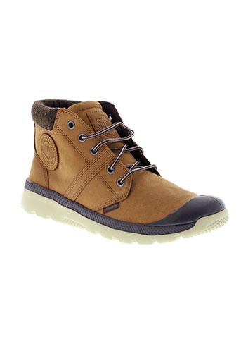 palladium boots homme de couleur marron