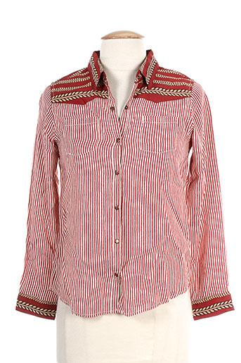 scotch r'belle chemises fille de couleur rouge