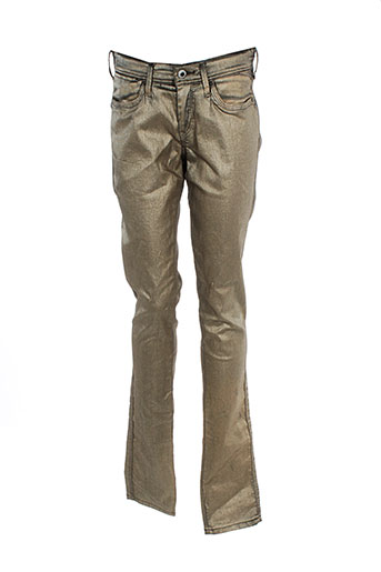 pepe jeans pantalons fille de couleur beige