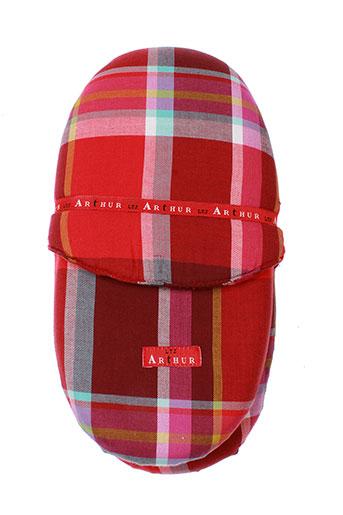 arthur pantoufle homme de couleur rouge
