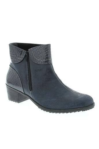 suave boots femme de couleur bleu