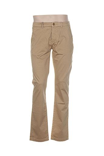atelier oscar pantalons homme de couleur beige