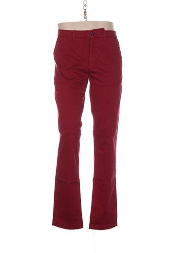 atelier oscar pantalons homme de couleur rouge