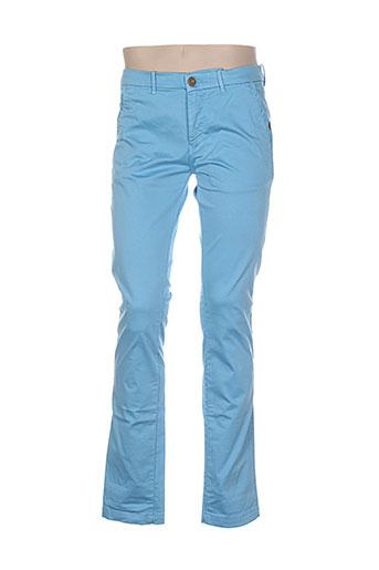 atelier oscar pantalons homme de couleur bleu