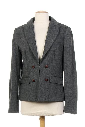blue denim lodge vestes femme de couleur gris
