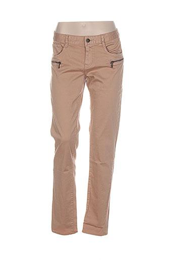 ddp pantalons et decontractes femme de couleur beige