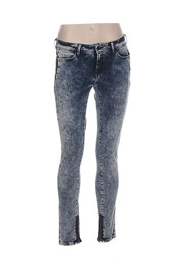 teddy smith jeans femme de couleur bleu