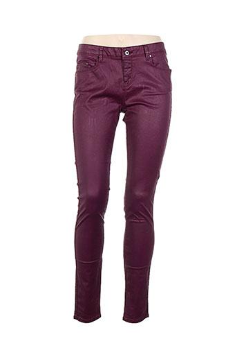 mexx pantalons femme de couleur violet