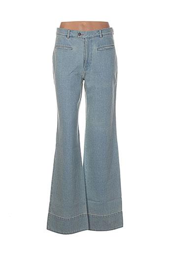 noro jeans femme de couleur bleu