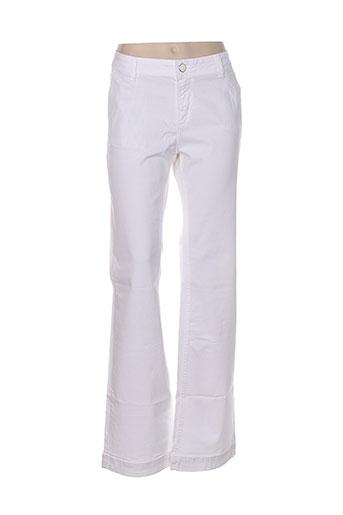 Pantalon casual blanc INDIWOMAN pour femme