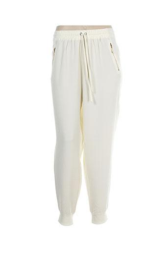 evanna pantalons femme de couleur beige