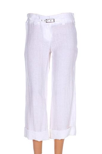 teenflo pantacourts femme de couleur blanc