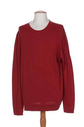 trussardi jeans pulls homme de couleur rouge
