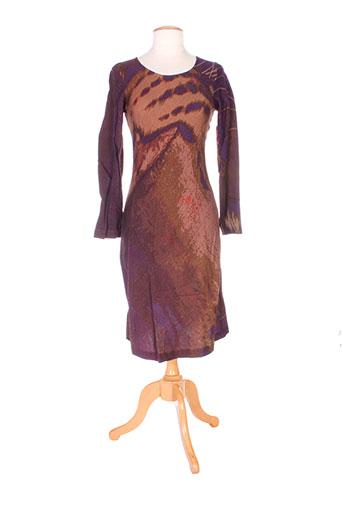christophe sauvat robes femme de couleur marron
