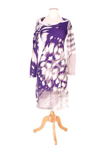 Robe mi-longue violet CHRISTOPHE SAUVAT pour femme